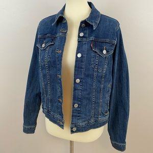 Dark Wash Levi's Original Trucker Denim Jacket